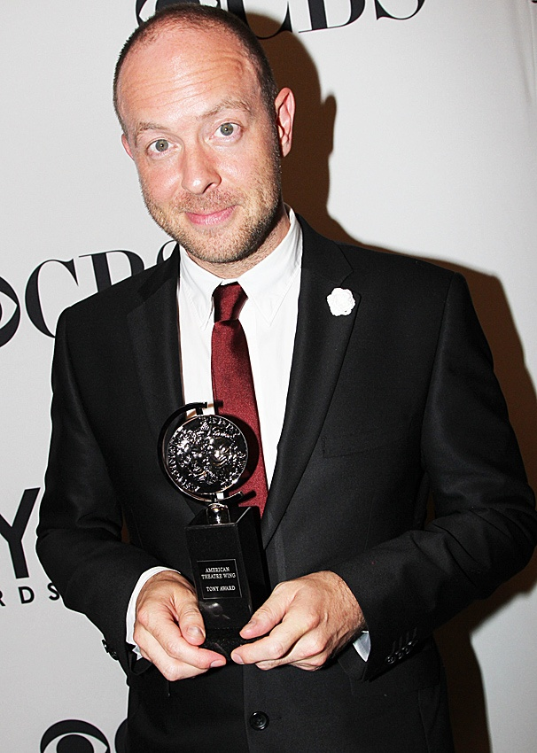 John Tiffany with his 2012 Tony Award