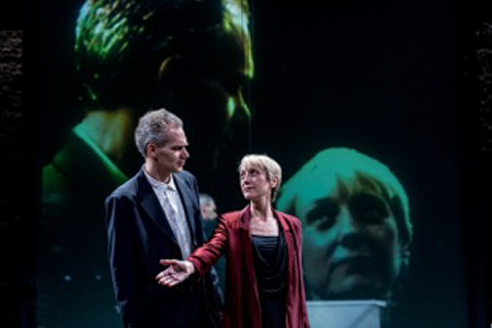 Angus Wright and Lia Williams in Oresteia. By Manuel Harlan