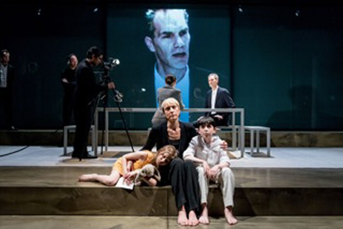 Eve Benioff, L Williams, A Wright, Ilan Galkoff in Oresteia. By Manuel Harlan