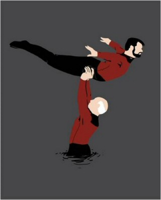 """Best scene from Dirty Dancing"" (http://8bitnerds.com/star-trek-dirty-dancing/)"