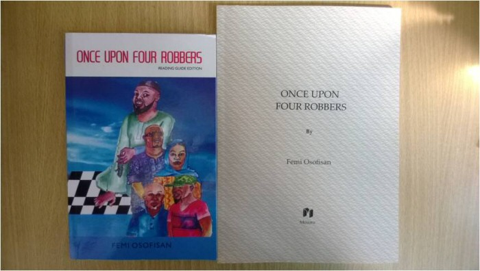The cover of Once Upon Four Robbers, one of Osofisan's plays.